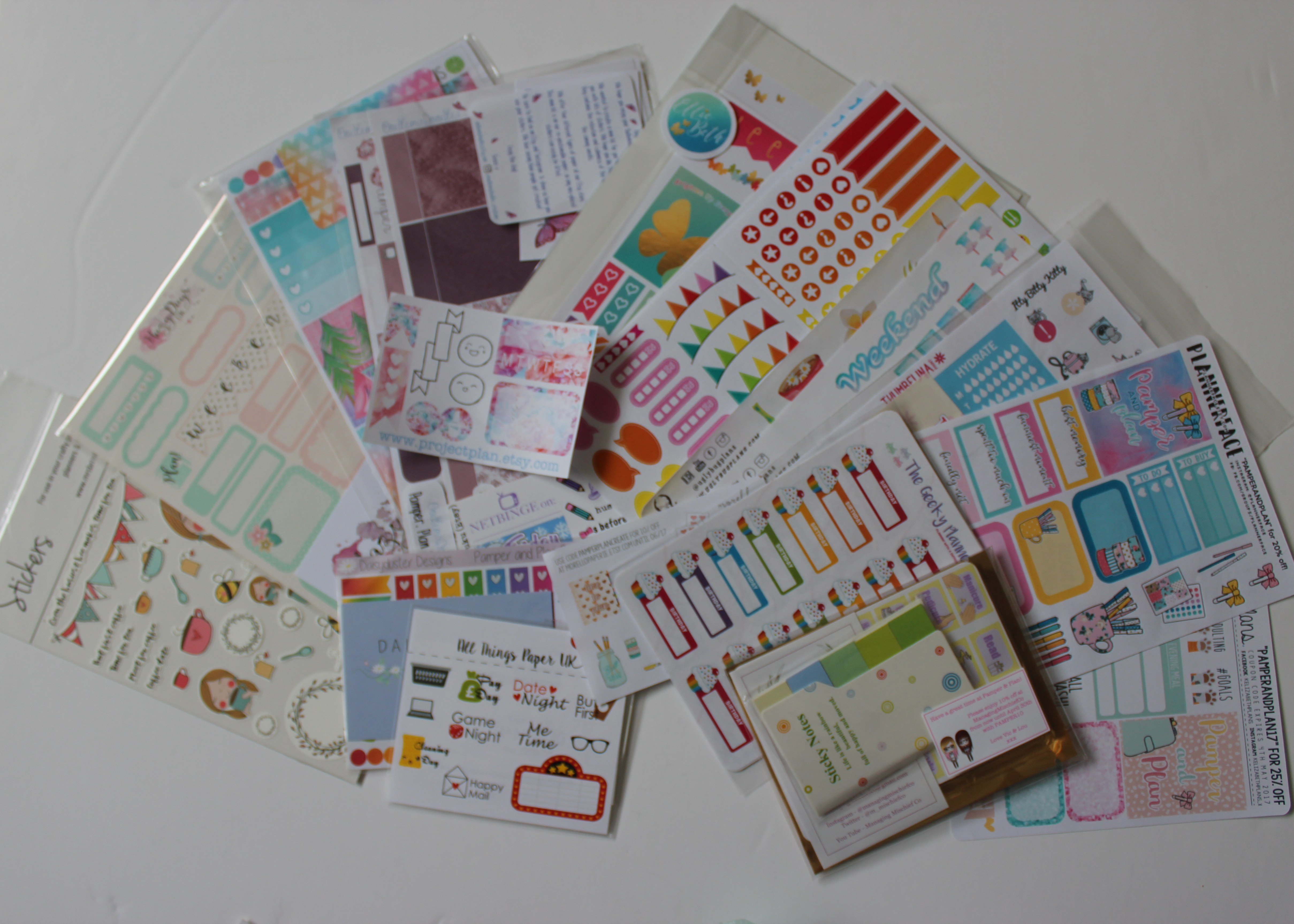 pamper and plan haul – the scrapbook girl